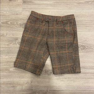 BCBG checkered wool shorts size 2